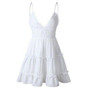 Calizhonia White Summer Sun Dress